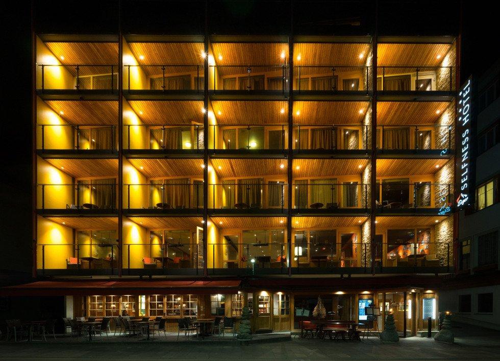 Hotel Eiger bei Nacht